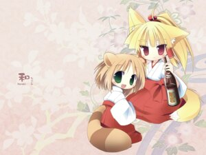 Rating: Safe Score: 9 Tags: animal_ears i.s.w nekomimi tozakura_nagomi wallpaper User: hirotn