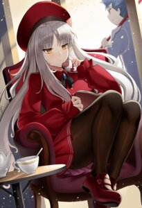 Rating: Safe Score: 27 Tags: fate/grand_order fate/hollow_ataraxia fate/stay_night karen_ortensia lancer pantyhose roina_(pixiv40428837) skirt_lift User: Mr_GT
