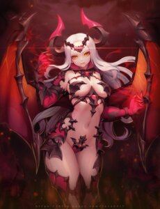Rating: Questionable Score: 71 Tags: armor bikini_armor horns maebari thighhighs wings y.i._(lave2217) User: Mr_GT