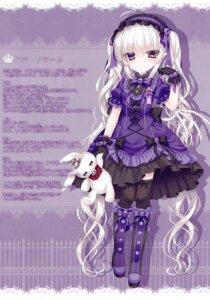 Rating: Safe Score: 27 Tags: dress gothic_lolita heels heterochromia lolita_fashion pointy_ears thighhighs tsukikage_nemu User: kiyoe
