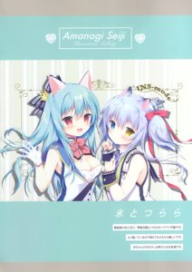 Rating: Safe Score: 16 Tags: amanagi_seiji animal_ears cleavage heterochromia User: kiyoe