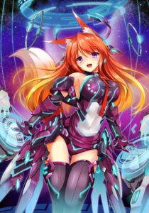 Rating: Safe Score: 64 Tags: animal_ears bodysuit fatke kitsune mecha_musume tail thighhighs User: 椎名深夏