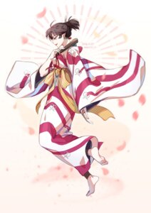 Rating: Safe Score: 18 Tags: dlcl2727 feet inuyasha kagura_(inuyasha) kimono pointy_ears signed User: charunetra
