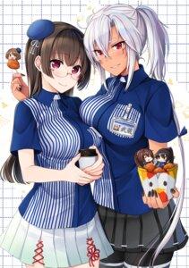 Rating: Safe Score: 22 Tags: chibi choukai_(kancolle) kantai_collection lawson maya_(kancolle) megane musashi_(kancolle) uniform yamato_(kancolle) yunamaro User: Mr_GT