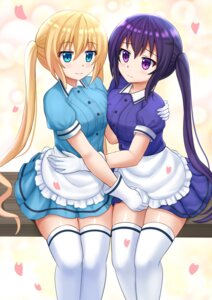 Rating: Safe Score: 33 Tags: blend_s crossover gochuumon_wa_usagi_desu_ka? hinata_kaho kazenokaze symmetrical_docking tedeza_rize thighhighs waitress User: Mr_GT