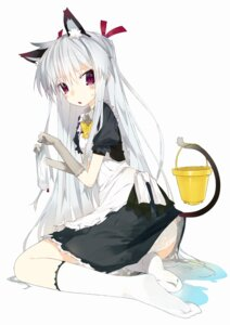 Rating: Questionable Score: 27 Tags: animal_ears karei maid nekomimi pantsu tail wet_clothes User: Radioactive