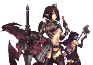 Rating: Safe Score: 30 Tags: armor nagi_ryou thighhighs underboob User: Radioactive