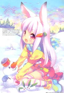 Rating: Safe Score: 10 Tags: animal_ears bunny_ears dress ech tail thighhighs User: Radioactive