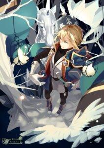 Rating: Safe Score: 8 Tags: blazblue horns kisaragi_jin male selenoring sword User: charunetra