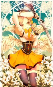 Rating: Safe Score: 50 Tags: gun puella_magi_madoka_magica thighhighs tomoe_mami utaoka_(23com) wings User: Nekotsúh