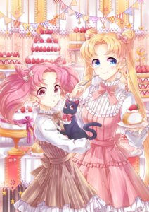 Rating: Safe Score: 20 Tags: chibiusa dress luna_(sailor_moon) neko sailor_moon tsukino_usagi zenyu User: Mr_GT