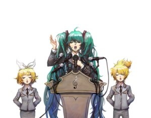 Rating: Safe Score: 11 Tags: hatsune_miku hong_yun_ji kagamine_len kagamine_rin uniform vocaloid User: Radioactive