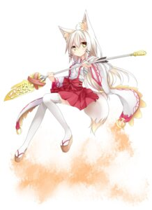 Rating: Safe Score: 45 Tags: animal_ears tail tyaba_neko weapon User: tbchyu001