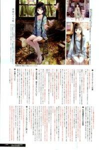 Rating: Questionable Score: 18 Tags: dress kamisama_no_memochou kishida_mel pajama pantsu shionji_yuuko thighhighs User: blooregardo