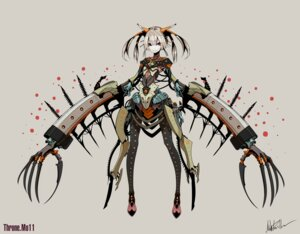 Rating: Safe Score: 21 Tags: armor autographed mecha_musume mo-11 palow throne. User: Radioactive