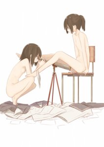 Rating: Questionable Score: 115 Tags: loli miyako_(naotsugu) naked nipples pantsu panty_pull yuri User: Radioactive