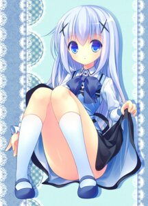 Rating: Questionable Score: 47 Tags: gochuumon_wa_usagi_desu_ka? kafuu_chino skirt_lift totsuka User: 椎名深夏
