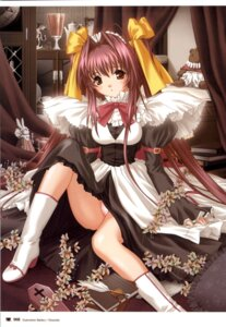 Rating: Questionable Score: 11 Tags: chocolat_-maid_cafe_curio- manai_misato nekonyan pantsu User: fireattack