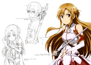 Rating: Safe Score: 33 Tags: adachi_shingo armor asuna_(sword_art_online) kirito nishiguchi_tomoya sketch sword sword_art_online thighhighs User: drop