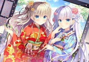 Rating: Safe Score: 57 Tags: charlotte kimono naruse_shiroha summer_pockets takano_yuki tomori_nao User: marechal