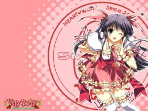 Rating: Safe Score: 21 Tags: berry's morikubo_yuna suzuhira_hiro thighhighs waitress wallpaper User: admin2