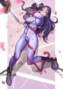 Rating: Questionable Score: 50 Tags: bodysuit bondage cameltoe erect_nipples fate/grand_order gorgeous_mushroom minamoto_no_raikou_(fate/grand_order) sword User: Ricetaffy