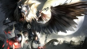Rating: Safe Score: 29 Tags: monster observerz pixiv_fantasia_v wings User: bele
