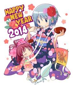 Rating: Safe Score: 25 Tags: chibi gecchu kimono kyubey miki_sayaka puella_magi_madoka_magica sakura_kyouko User: Radioactive