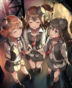 Rating: Safe Score: 44 Tags: cleavage honda_mio kachayori shibuya_rin shimamura_uzuki the_idolm@ster the_idolm@ster_cinderella_girls torn_clothes User: Mr_GT