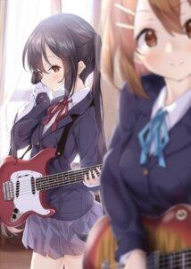 Rating: Safe Score: 30 Tags: guitar hirasawa_yui k-on! nakano_azusa seifuku ukiwakisen User: BattlequeenYume