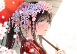 Rating: Safe Score: 44 Tags: akasaka_asa kimono umbrella User: mash