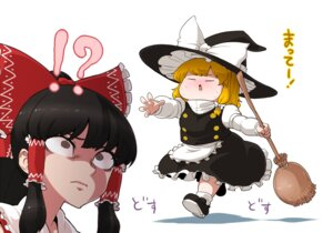 Rating: Safe Score: 4 Tags: hakurei_reimu kirisame_marisa supeesujin touhou User: Radioactive