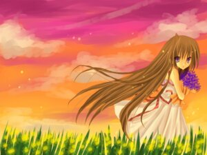 Rating: Safe Score: 3 Tags: dress kazeto_amane summer_dress wallpaper User: charunetra