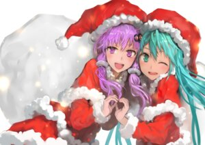 Rating: Safe Score: 36 Tags: bob christmas hatsune_miku vocaloid yuzuki_yukari User: Mr_GT
