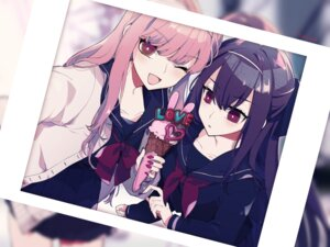 Rating: Safe Score: 12 Tags: fate/grand_order medb_(fate/grand_order) scathach_(fate/grand_order) seifuku sweater toyama572 User: BattlequeenYume