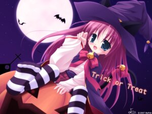 Rating: Safe Score: 15 Tags: animal_ears halloween nekomimi wallpaper witch yokuran User: yumichi-sama