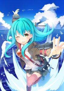 Rating: Safe Score: 30 Tags: kantai_collection seifuku shizuka_(deatennsi) suzuya_(kancolle) thighhighs User: Mr_GT