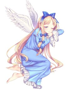 Rating: Safe Score: 16 Tags: dress feet may_(2747513627) wings User: charunetra