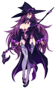 Rating: Questionable Score: 51 Tags: heels kenkou_cross no_bra stockings thighhighs weapon witch User: NotRadioactiveHonest