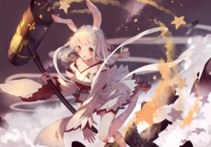 Rating: Safe Score: 29 Tags: animal_ears bou_shaku bunny_ears japanese_clothes noah_fantasy tagme weapon User: sym455