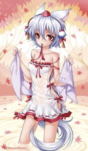 Rating: Questionable Score: 31 Tags: cleavage inubashiri_momiji senzi touhou wet_clothes User: Mr_GT