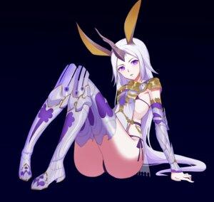 Rating: Questionable Score: 12 Tags: animal_ears armor bikini_armor bunny_ears horns no-light shadowverse thighhighs thong User: royal_paladin