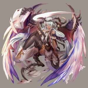 Rating: Safe Score: 40 Tags: mizushirazu tail thighhighs weapon wings User: Radioactive