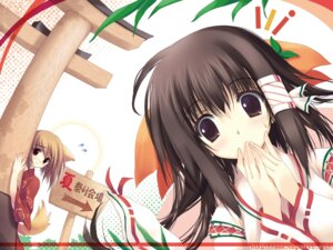 Rating: Safe Score: 36 Tags: animal_ears japanese_clothes miko nagomi tail tenmu_shinryuusai wallpaper User: Wilhelmina