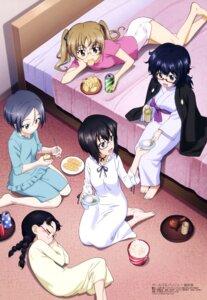 Rating: Safe Score: 33 Tags: fukuda_(girls_und_panzer) girls_und_panzer itou_takeshi kawashima_momo megane oono_aya oryou_(girls_und_panzer) pajama rumi_(girls_und_panzer) yukata User: drop