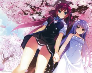 Rating: Questionable Score: 87 Tags: dress fumio grisaia_no_kajitsu kazami_kazuki pantsu seifuku summer_dress suou_amane User: Twinsenzw