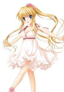 Rating: Safe Score: 11 Tags: air dress hinoue_itaru kamio_misuzu key no_bra skirt_lift summer_dress User: marechal