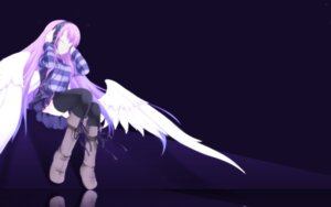 Rating: Safe Score: 26 Tags: angel headphones tagme thighhighs wings User: Lynxss