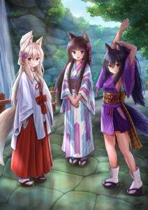 Rating: Safe Score: 18 Tags: animal_ears iroha_(iroha_matsurika) japanese_clothes kimono kitsune miko nekomimi tail User: ryoga828