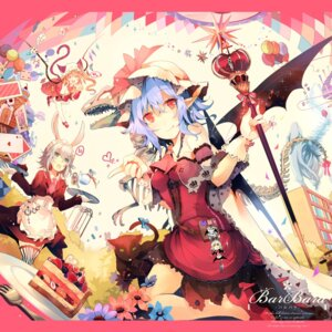 Rating: Safe Score: 32 Tags: animal_ears flandre_scarlet heels izayoi_sakuya kirero nekomimi pointy_ears remilia_scarlet tail thighhighs touhou waitress wings User: Mr_GT